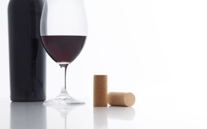 Cork Wine Stopper and Bottle